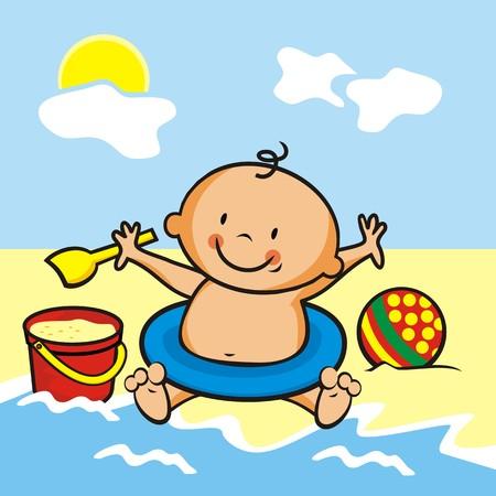 toddler: toddler by water