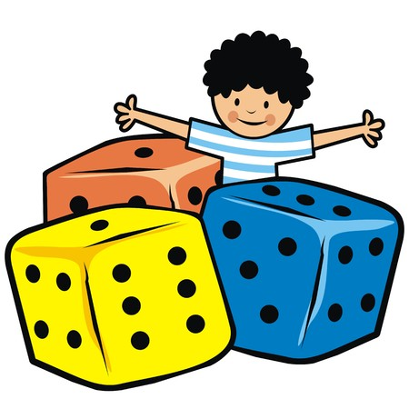 pers: boy and dice