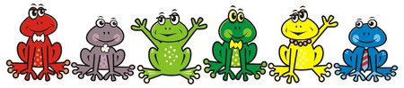 gambol: group of frogs