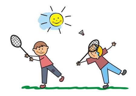 badminton racket: badminton