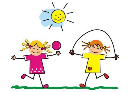 Girls, outdoor games