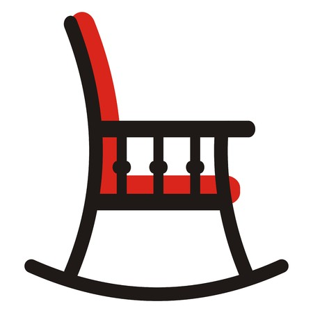 cushioned: rocking chair