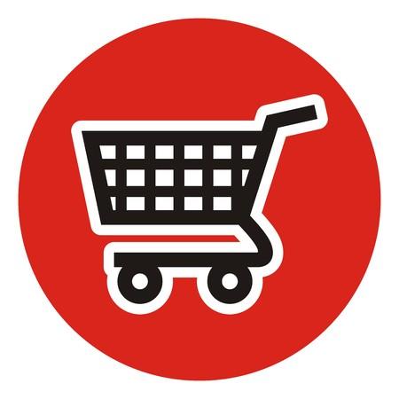 web shopping: shopping cart, vector icon Illustration