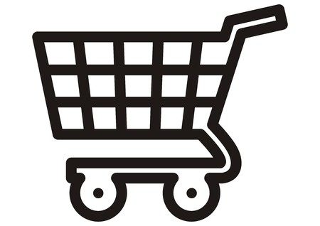 simple store: shopping cart, icon