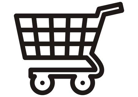 web store: shopping cart, icon