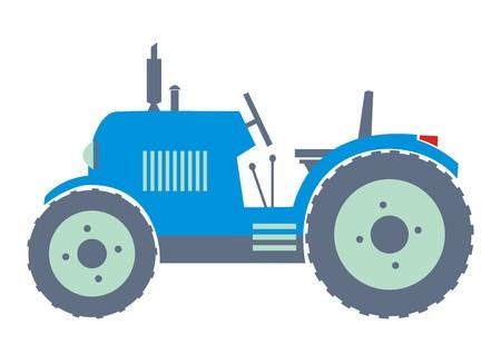 tillage: blue tractor