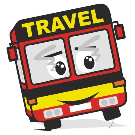 cartoon mouth: bus travel Illustration
