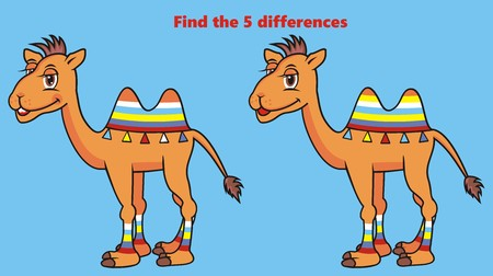 find: camel, find five differences
