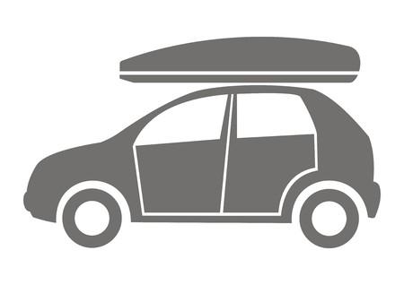 profile silhouette: Car and Coffin