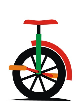 unicycle, vector icon