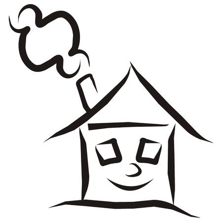 warmness: Heated house