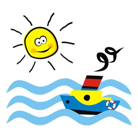 vac: boat and sun