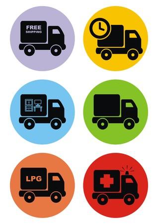 lpg: pickup set Illustration