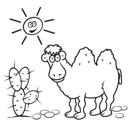 prickly pear: camel, coloring book