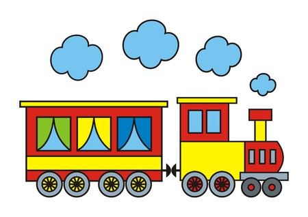loco: colorful train