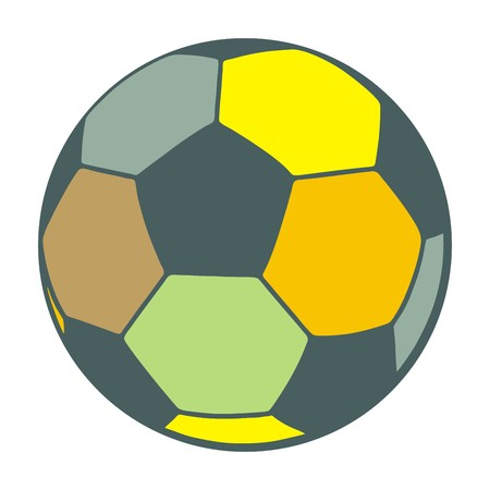 polychromatic: Colorful soccer ball