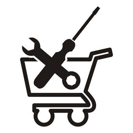 e commerce icon: tools, icon e commerce