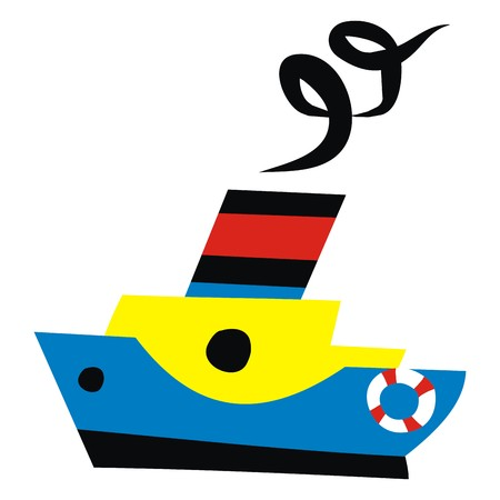 sailer: steamer Illustration