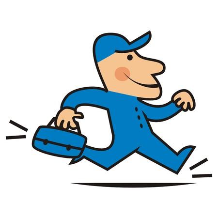 operative: Running Man Illustration