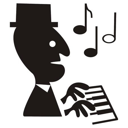 concerto: pianist Illustration