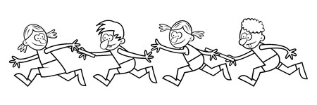 relay: Relay races, coloring book Illustration