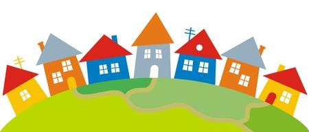 municipalities: dorp Illustration