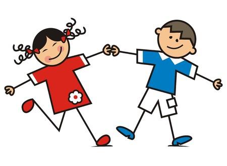 wench: Dancing children Illustration
