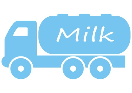 camion: truck, milk tank Illustration