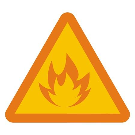 incendiary: warning symbol Illustration