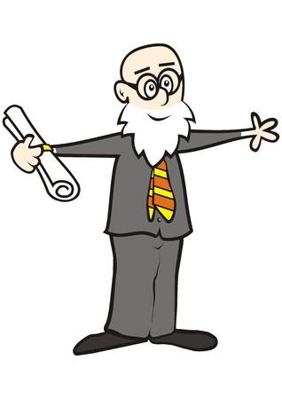 professor and diploma Illustration