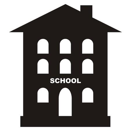 schoolhouse: Schoolhouse, black icon Illustration