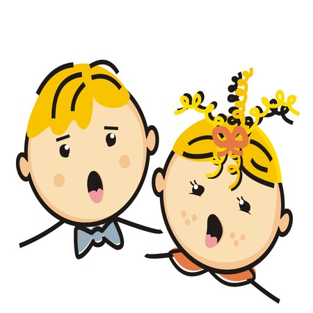 canto: singing children Illustration
