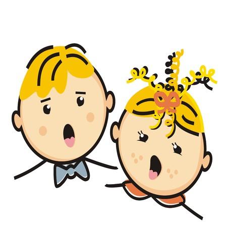 singing children Illustration