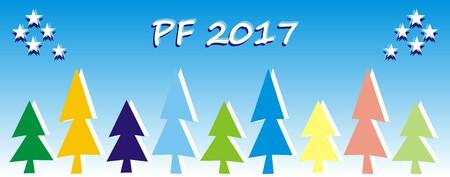 new year greeting card, PF 2017