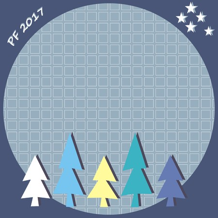 pf: new year greeting card, PF 2017