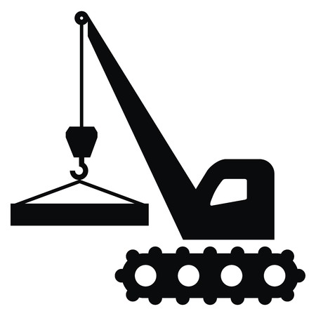 loads: Crane icon, black silhouette, handling of load.