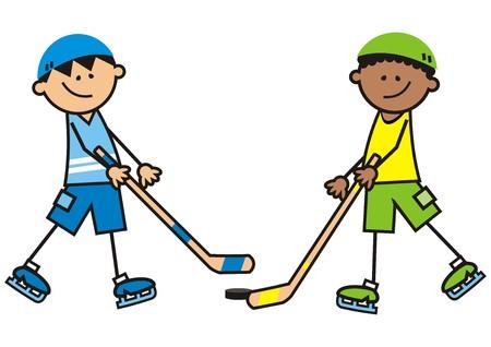 Hockey rival, vector illustration.