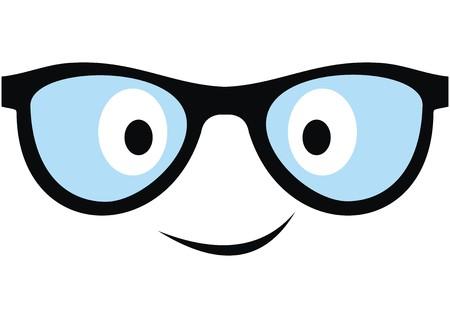 Smile glasses, vector icon