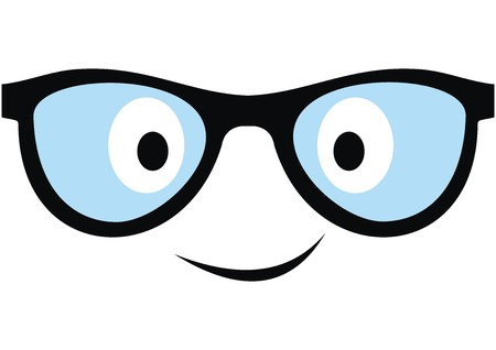 Smile glasses, vector icon