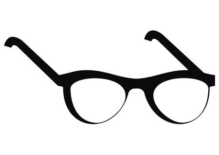 glasses, black frame, vector icon
