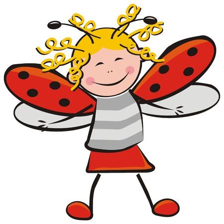 guise: Ladybug, carnival mask, vector illustration Illustration