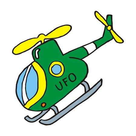 skid: Helicopter with skids, vector icon, sketch