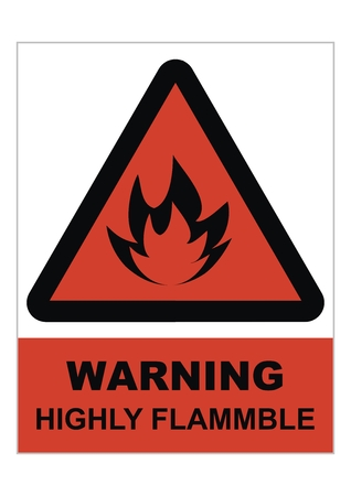 beware of the danger of fire, waring sign, vector icon