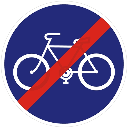 Road sign for a bicycle lane, vector icon