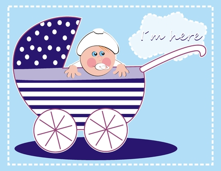 baby boy, creative vector illustration Vector Illustration