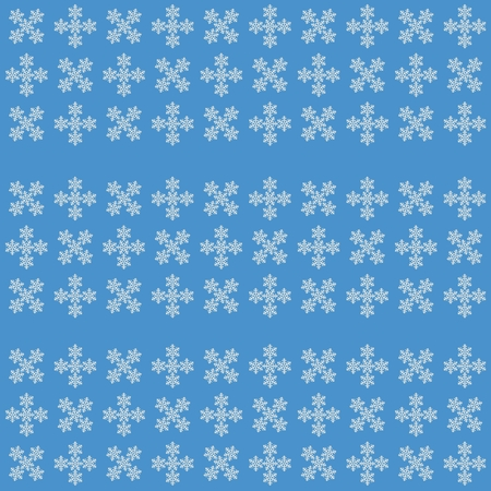 White snowflakes on blue background, christmas ornament, vector icon Illustration