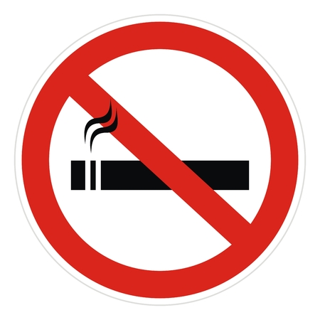 no smoking, vector icon, red circle sign