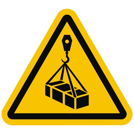 ISO 7010 W015 Advertencia, carga aérea, icono de vector Ilustración de vector
