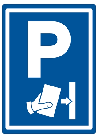 Road sign for parking, vector icon