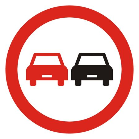 No traffic sign, vector icon. Circular prohibition sign.